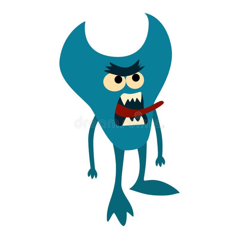 Geplaatste de monsters van het beeldverhaal Kleurrijk stuk speelgoed leuk monster vector illustratie