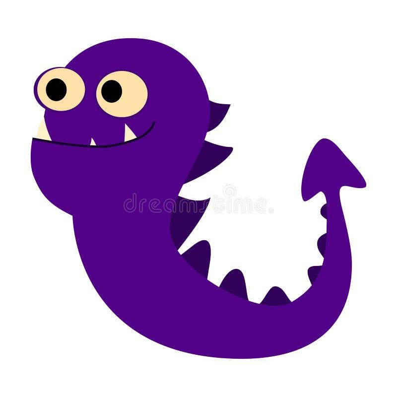 Geplaatste de monsters van het beeldverhaal Kleurrijk stuk speelgoed leuk monster Vectoreps 10 vector illustratie