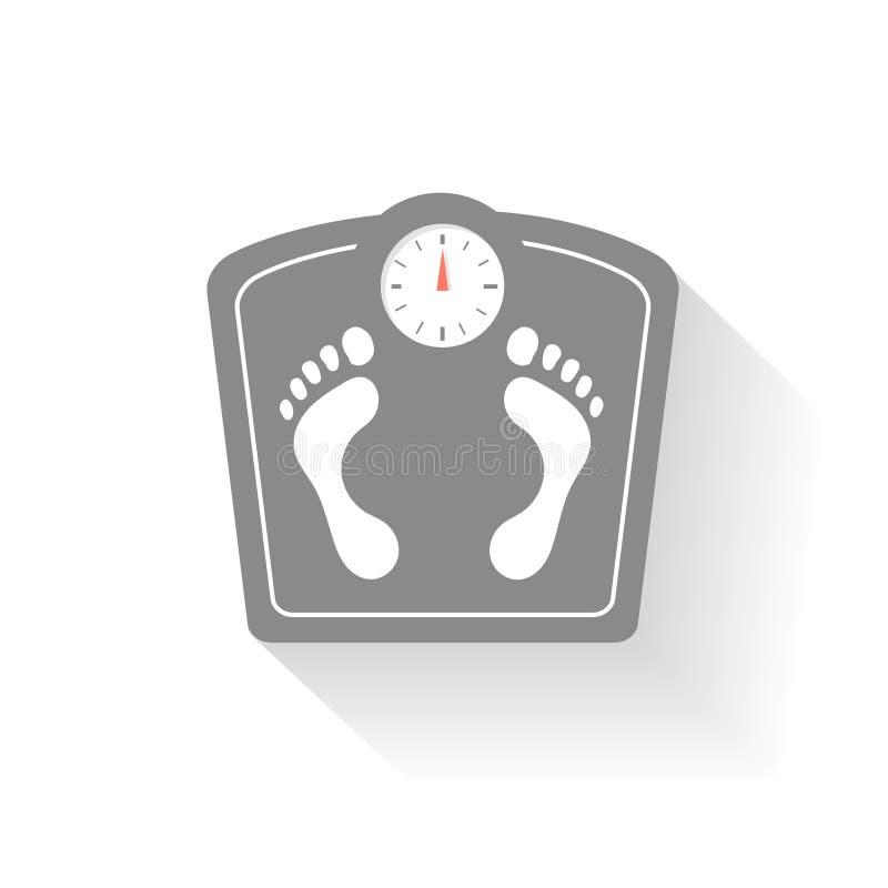 Geplaatste de pictogrammen van badkamersschalen De tekens van de gewichtscontrole vector illustratie