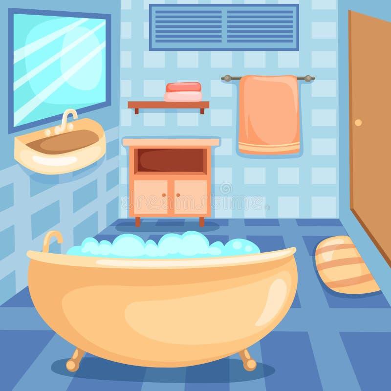 Geplaatste de pictogrammen van de badkamers royalty-vrije illustratie