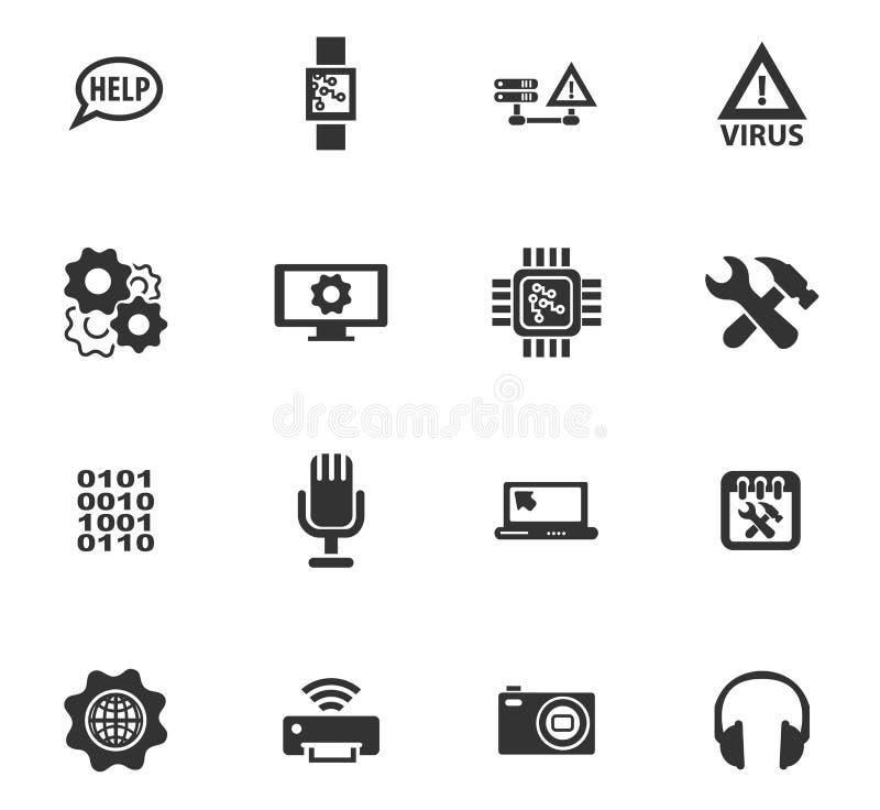 Geplaatste de pictogrammen van de elektronikareparatie vector illustratie