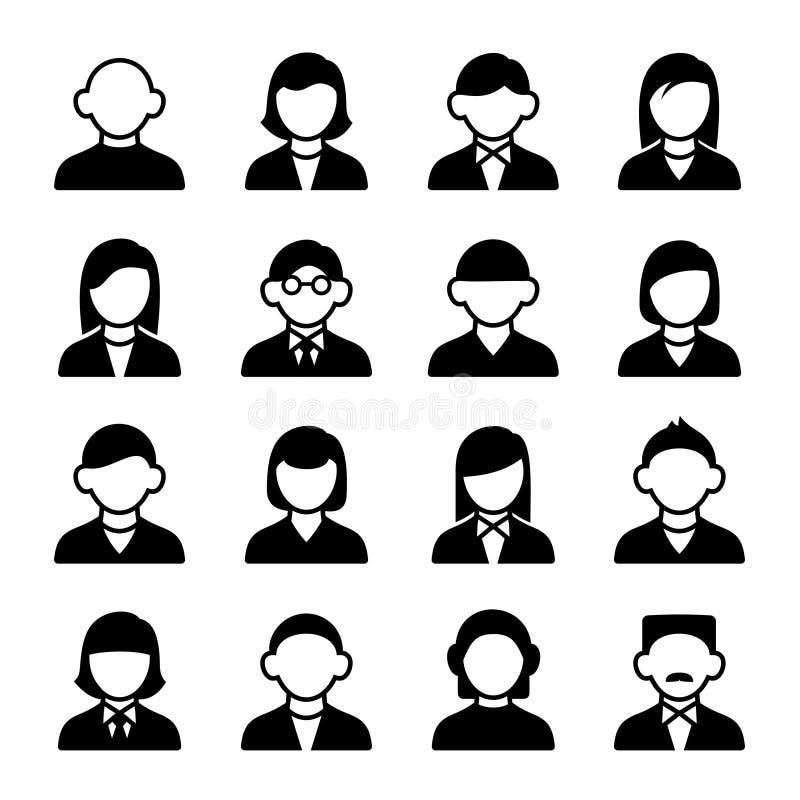 Geplaatste de pictogrammen van de gebruiker vector illustratie