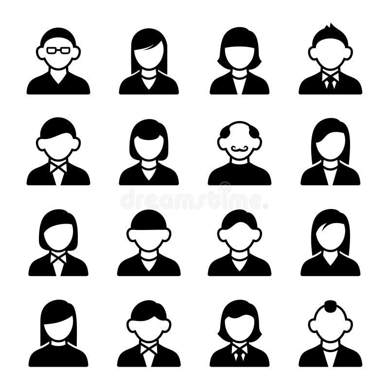 Geplaatste de pictogrammen van de gebruiker royalty-vrije illustratie