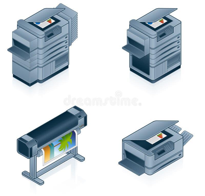Geplaatste de Pictogrammen van de Hardware van de computer vector illustratie