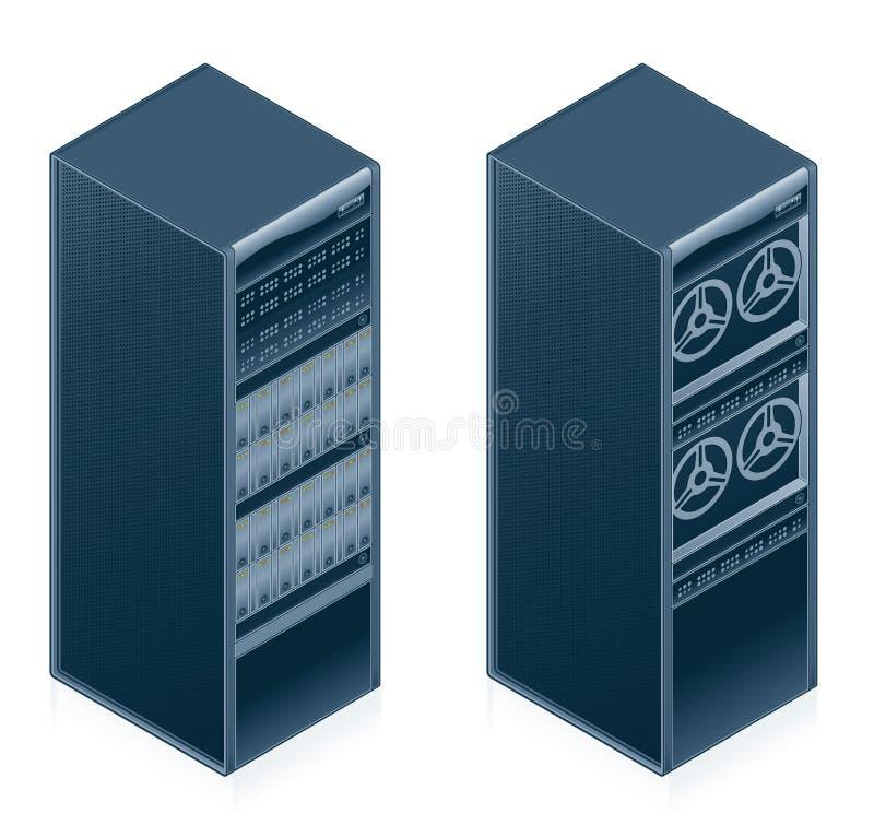 Geplaatste de Pictogrammen van de Hardware van de computer - de Elementen van het Ontwerp 55l royalty-vrije illustratie