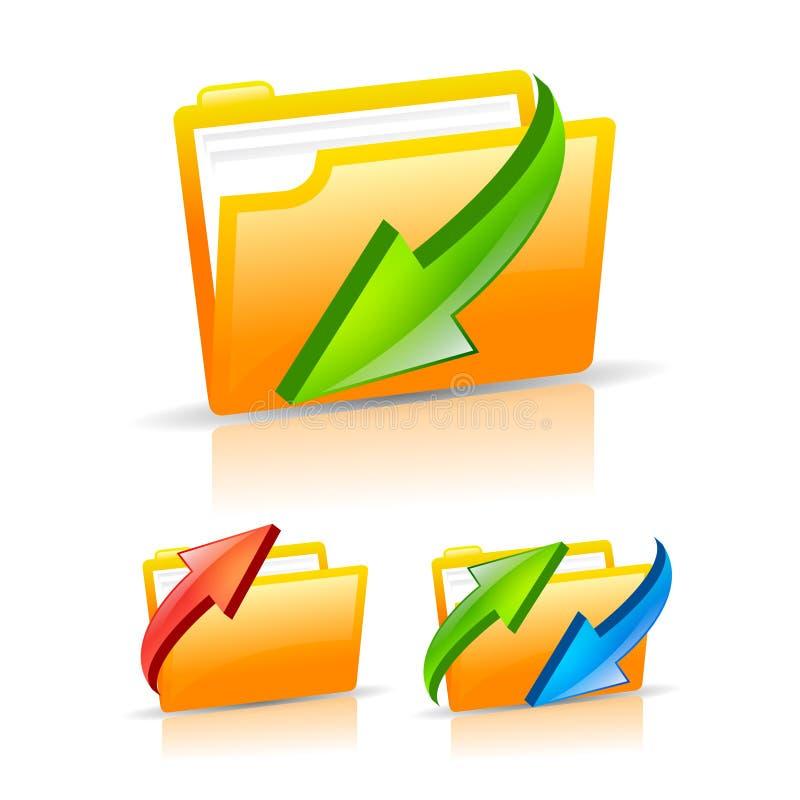 Geplaatste de pictogrammen van de omslag stock illustratie