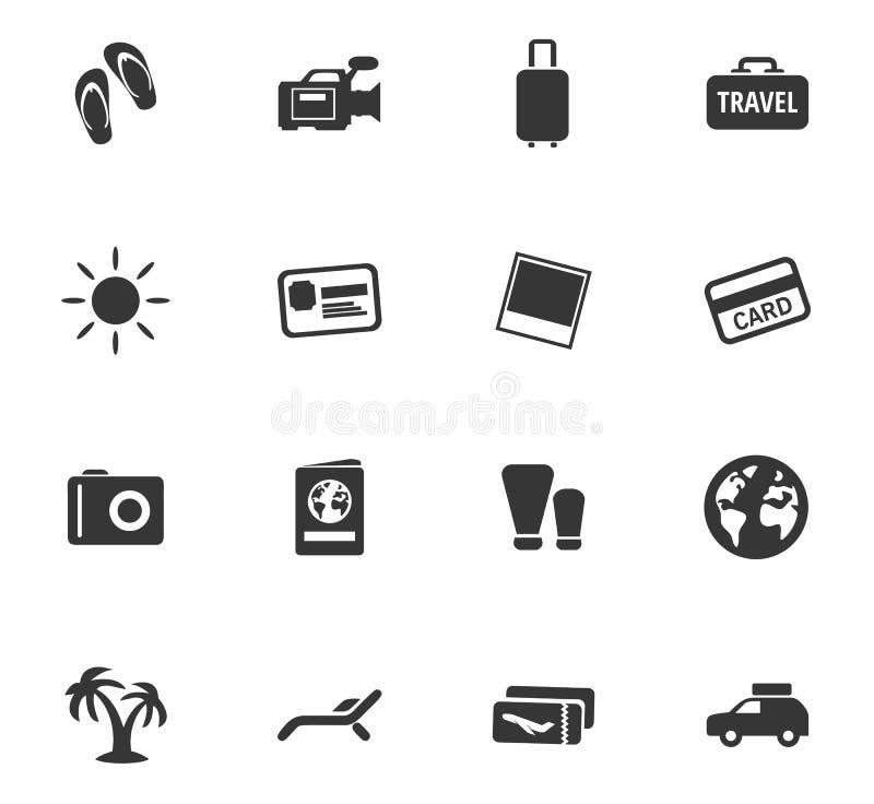 Geplaatste de pictogrammen van de reis stock afbeelding
