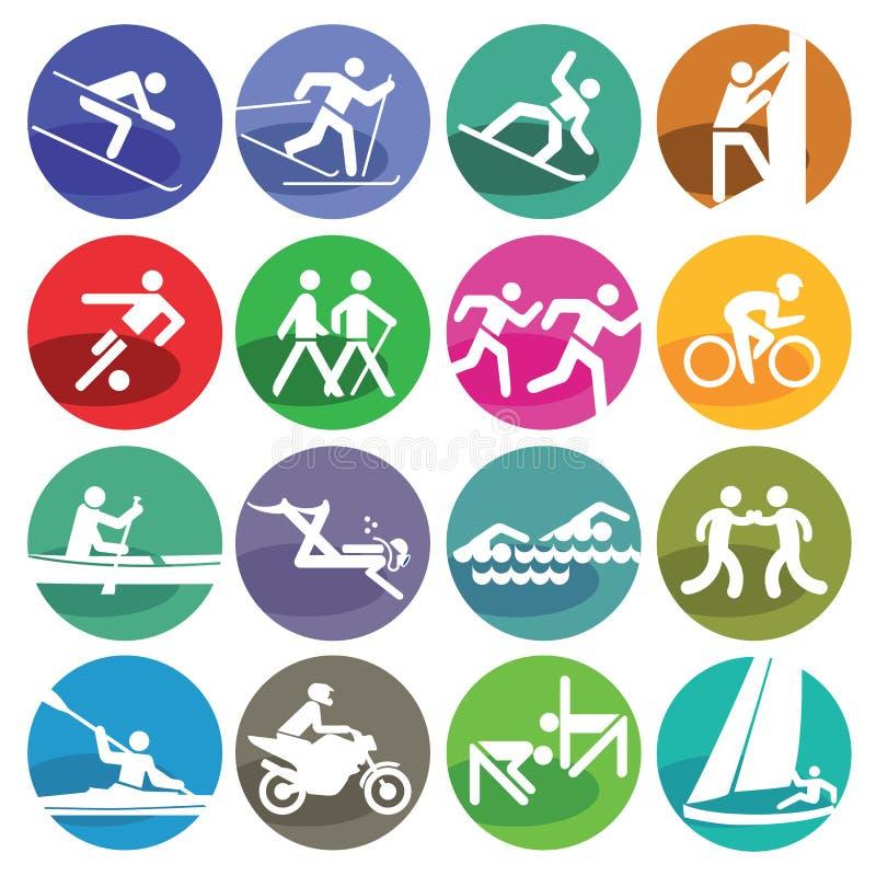 Geplaatste de pictogrammen van de sport royalty-vrije illustratie