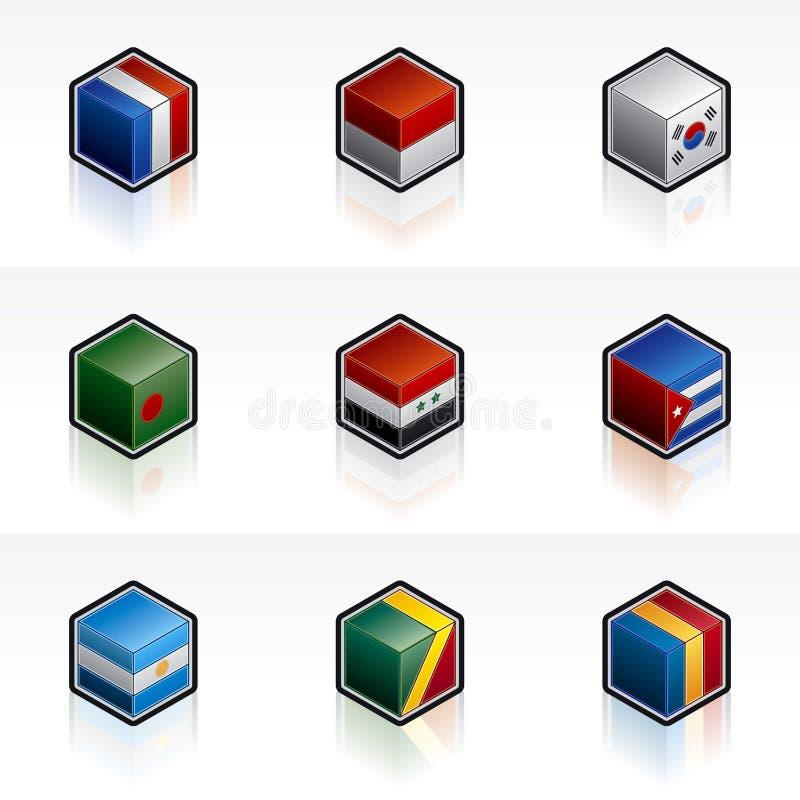 Geplaatste de Pictogrammen van de vlag - de Elementen van het Ontwerp 56c vector illustratie