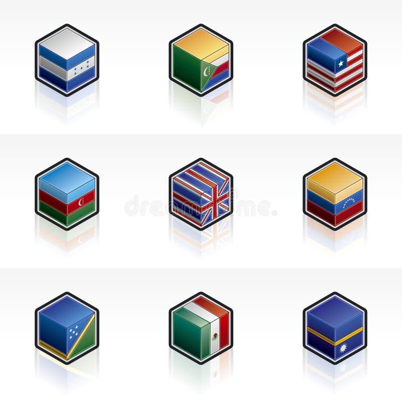 Geplaatste de Pictogrammen van de vlag - Elementen 56m van het Ontwerp royalty-vrije illustratie