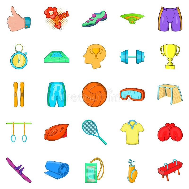 Geplaatste de pictogrammen van elitesporten, beeldverhaalstijl stock illustratie