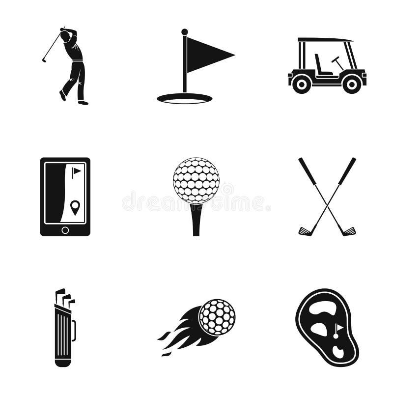 Geplaatste de pictogrammen van de golfmarkt, eenvoudige stijl royalty-vrije illustratie