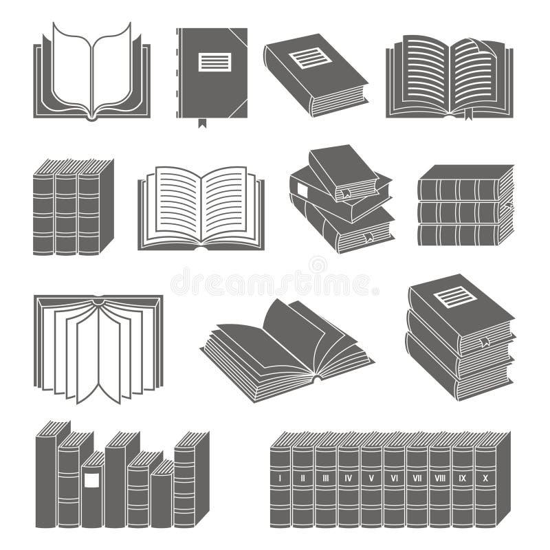 Geplaatste de pictogrammen van het boek stock illustratie