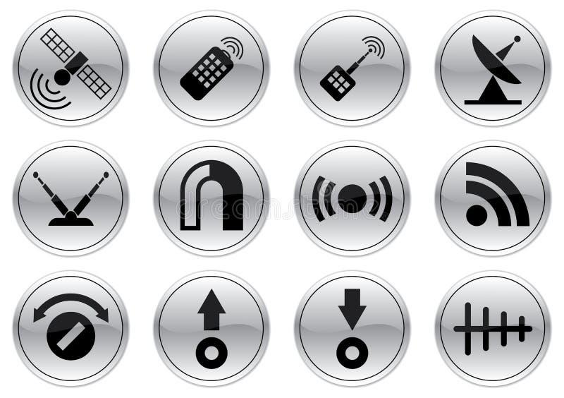 Geplaatste de pictogrammen van het gadget. vector illustratie