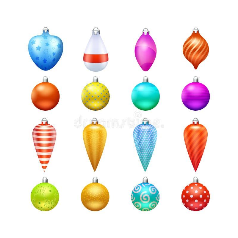 Geplaatste de Pictogrammen van het Kerstmisspeelgoed stock illustratie