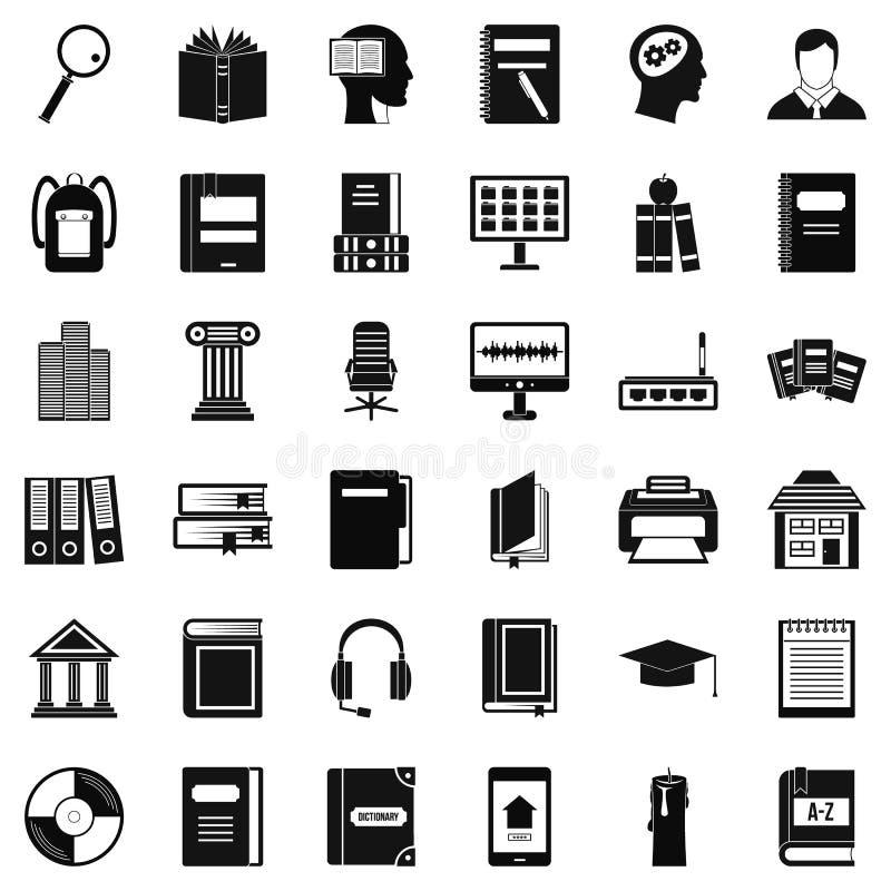 Download Geplaatste De Pictogrammen Van Het Lezingsboek, Eenvoudige Stijl Vector Illustratie - Illustratie bestaande uit mens, af: 107707614