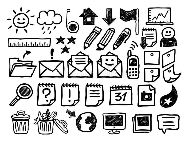 Geplaatste de pictogrammen van Internet royalty-vrije illustratie