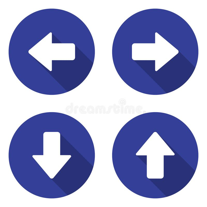 Geplaatste de pictogrammen van de pijl stock illustratie