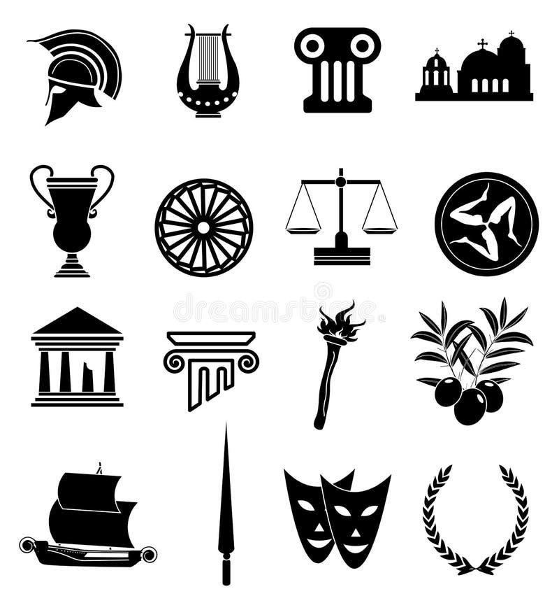 Geplaatste de pictogrammen van Rome stock illustratie