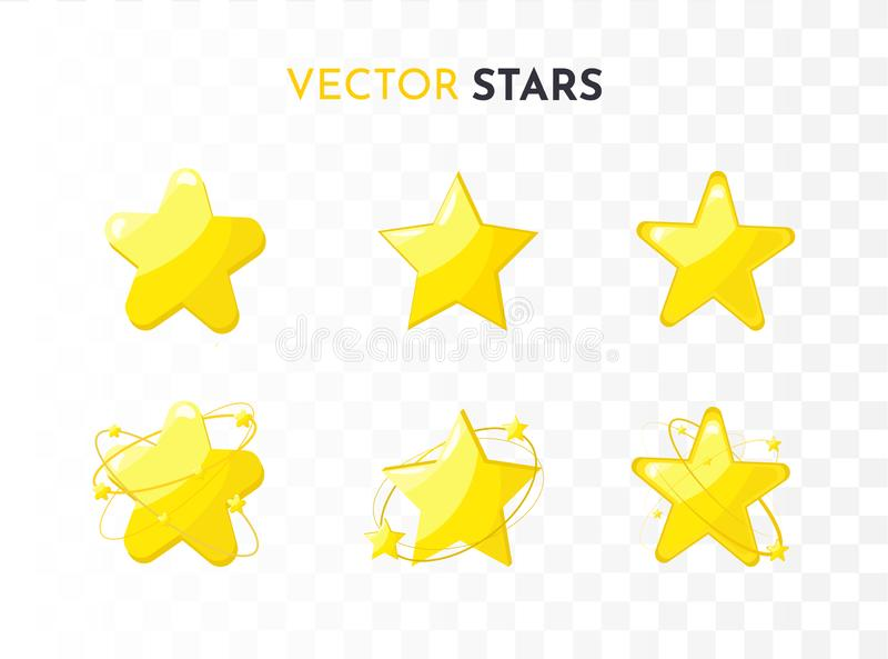 Geplaatste de pictogrammen van de ster Vector royalty-vrije illustratie