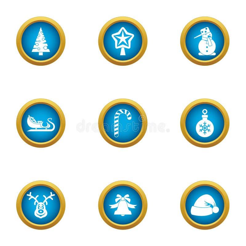 Geplaatste de pictogrammen van de vooravondpartij, vlakke stijl stock illustratie