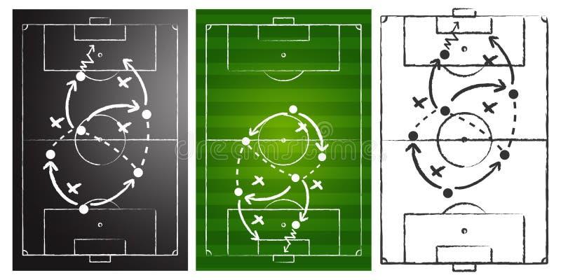 Geplaatste de raad van de het spelstrategie van het voetbal royalty-vrije illustratie