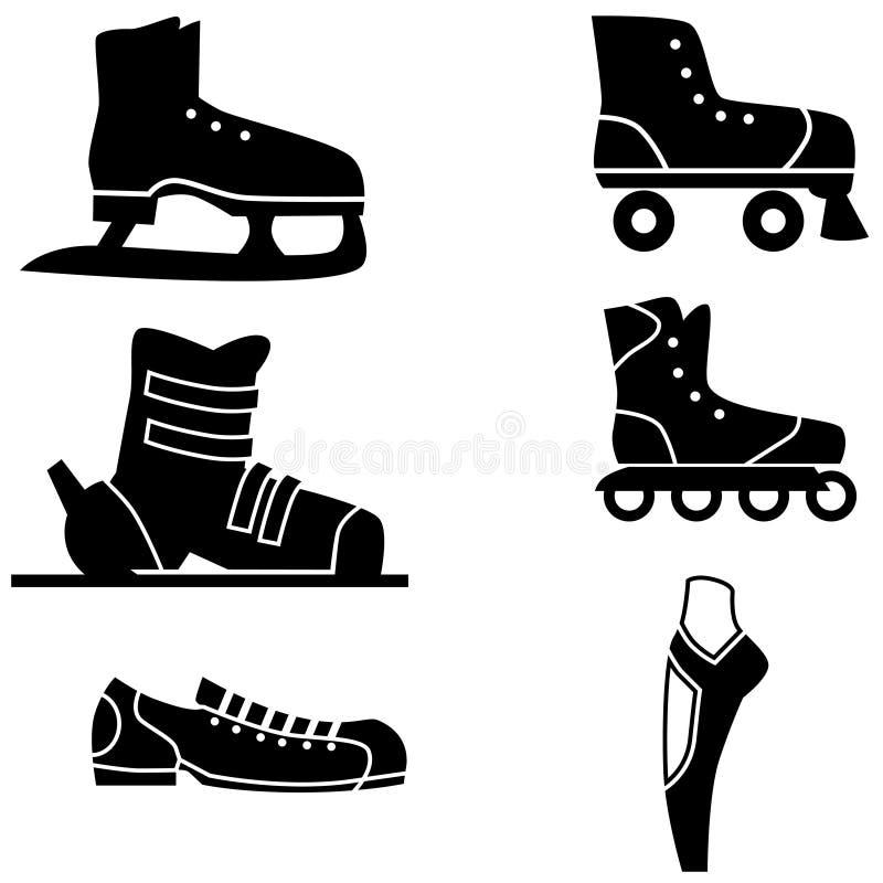 Geplaatste de Schoenen van sporten stock illustratie