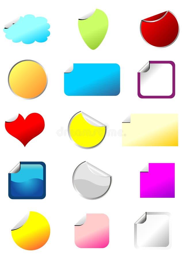 Geplaatste de stickers van Promo royalty-vrije illustratie