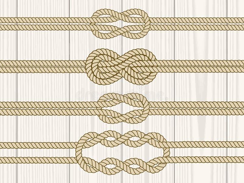 Geplaatste de verdelers van de zeemansknoop royalty-vrije illustratie