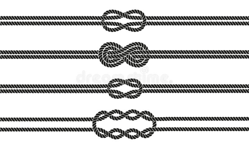 Geplaatste de verdelers van de zeemansknoop vector illustratie