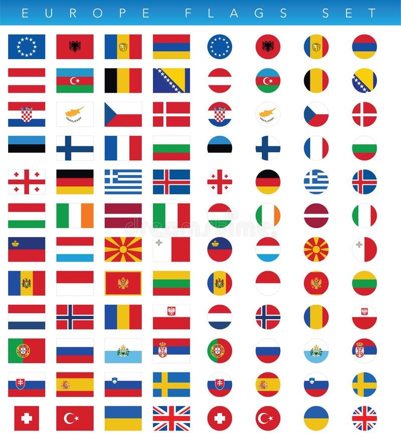 Geplaatste de Vlaggen van Europa