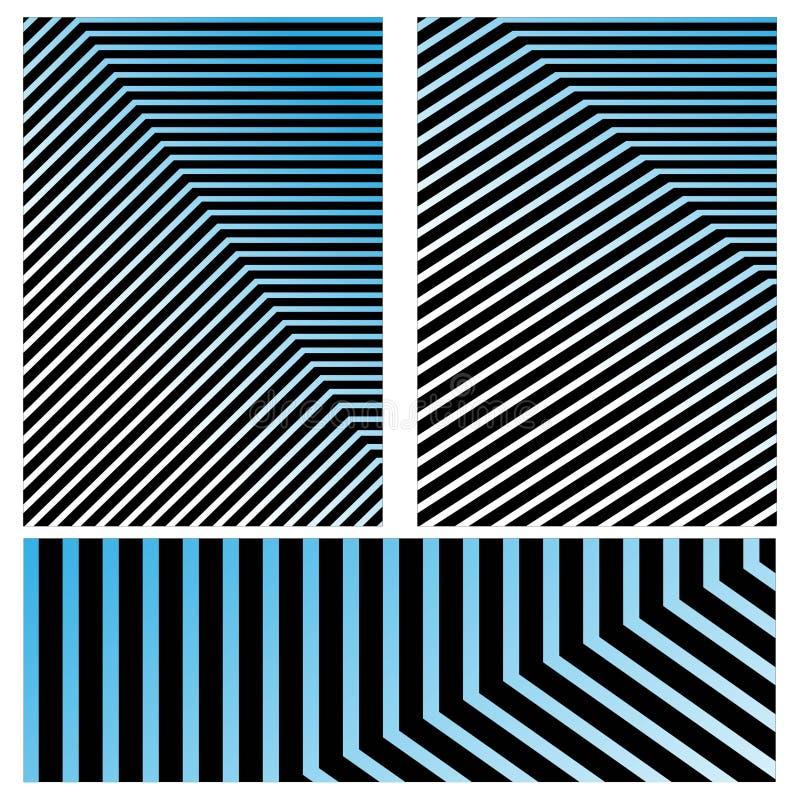 Geplaatste dekkingsmalplaatjes, vector geometrische abstracte achtergrond Vlieger, presentatie, brochure, banner, afficheontwerp royalty-vrije illustratie