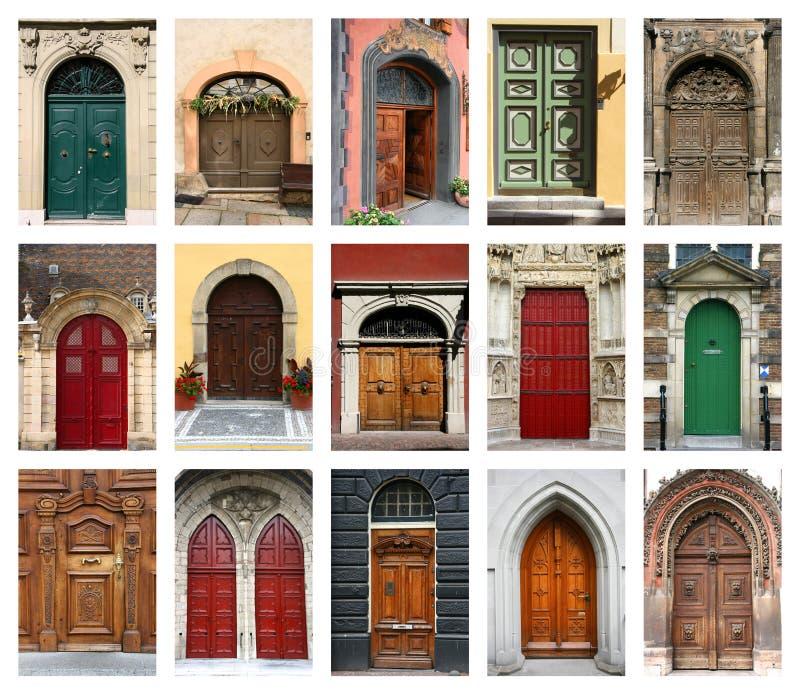 Geplaatste deuren stock foto