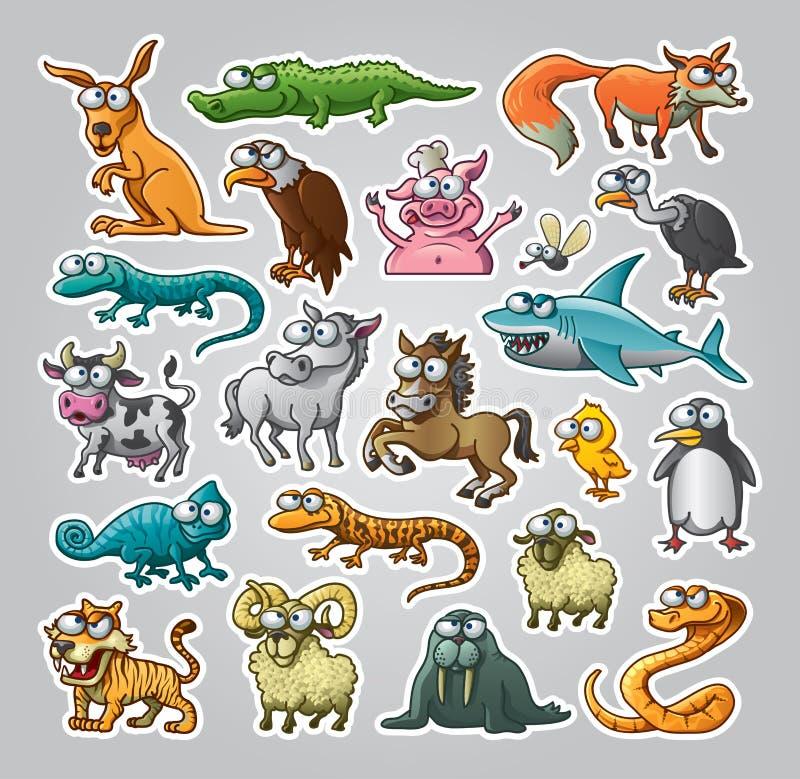 Geplaatste dieren stock illustratie