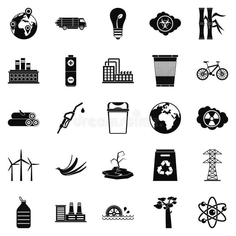 Download Geplaatste Ecopictogrammen, Eenvoudige Stijl Vector Illustratie - Illustratie bestaande uit klimaat, vriendschappelijk: 107708936
