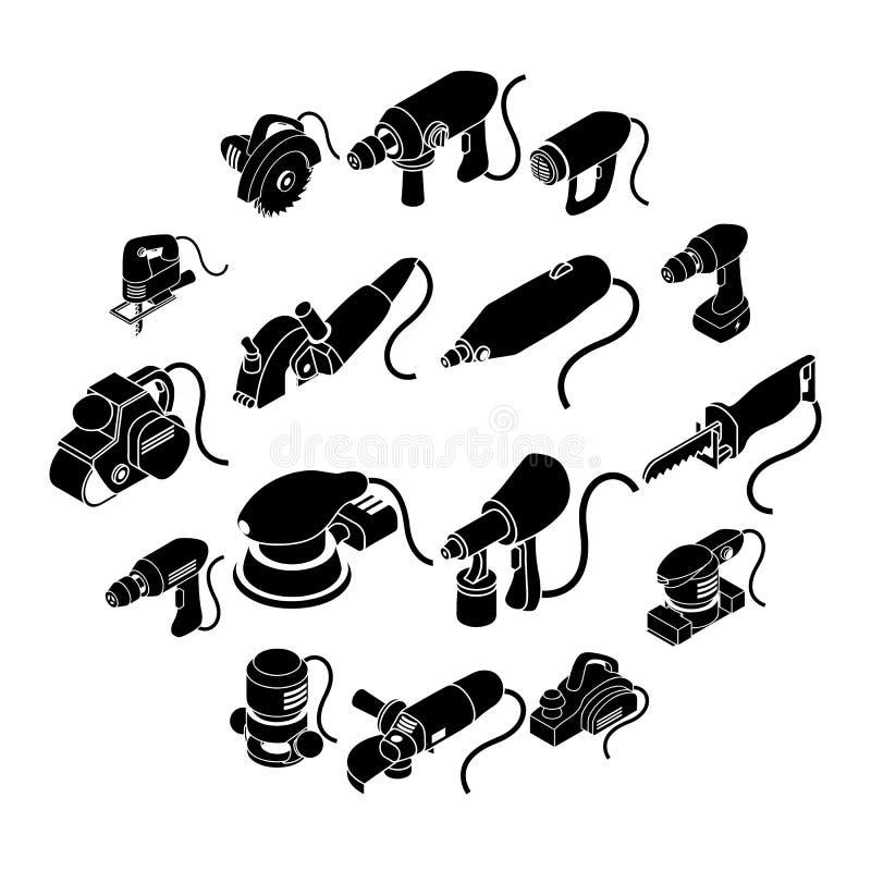 Download Geplaatste Elektrische Gereedschappenpictogrammen, Eenvoudige Isometrische Stijl Vector Illustratie - Illustratie bestaande uit hardware, machine: 114225853