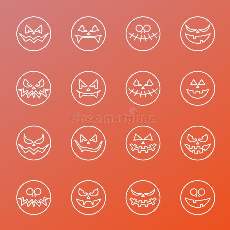 Geplaatste emotiespictogrammen stock foto