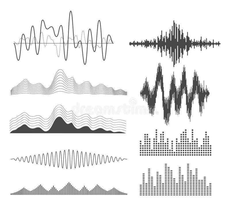 Geplaatste equaliserpictogrammen vector illustratie