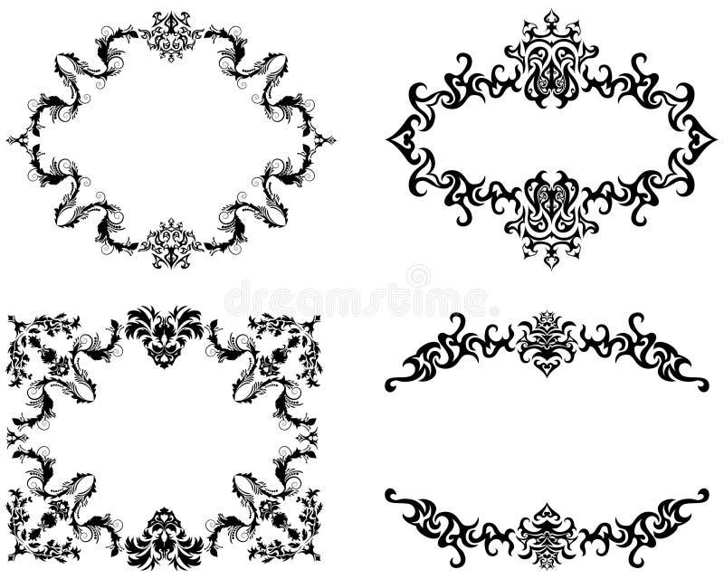 Geplaatste frames stock illustratie