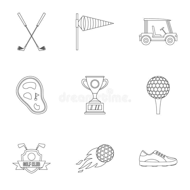 Geplaatste golf de pictogrammen, schetsen stijl royalty-vrije illustratie
