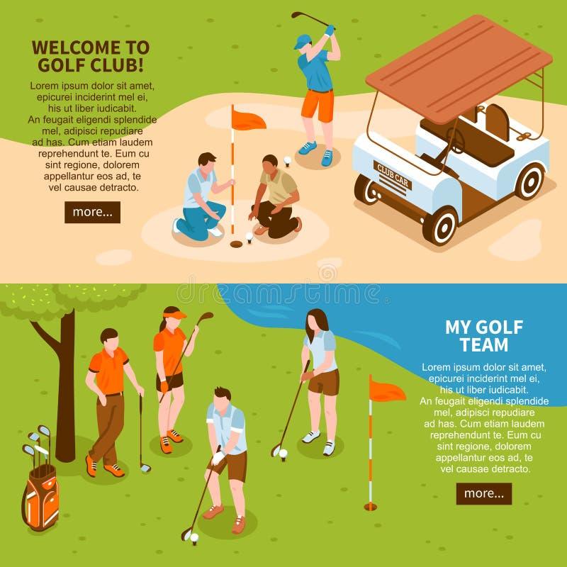 Geplaatste golfbanners royalty-vrije illustratie