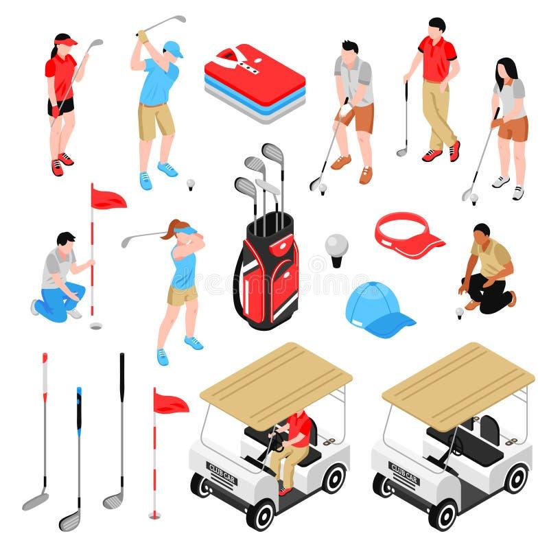 Geplaatste golfpictogrammen vector illustratie