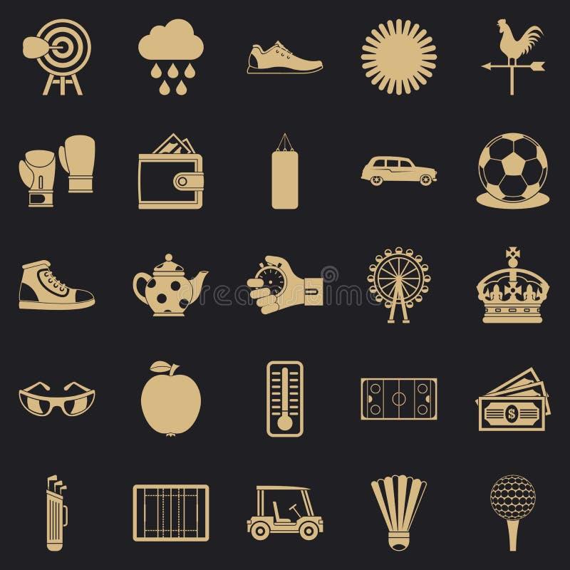 Geplaatste golfpictogrammen, eenvoudige stijl vector illustratie