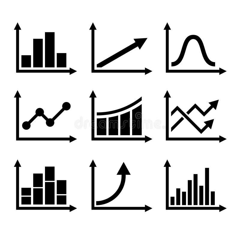 Geplaatste Grafiekpictogrammen de bedrijfs van Infographic Vector stock illustratie