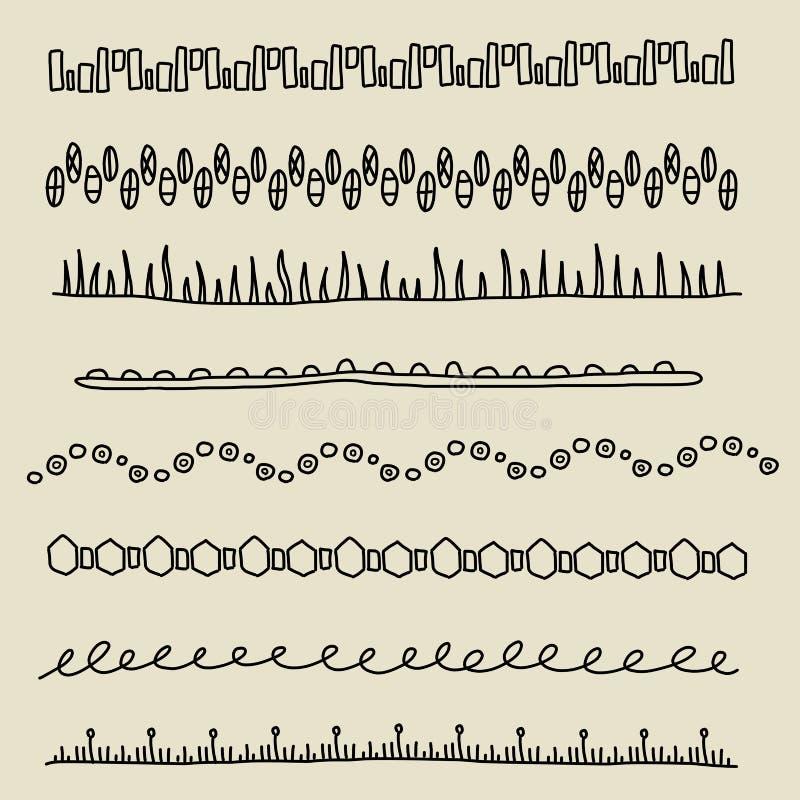 Geplaatste grenzen stock illustratie