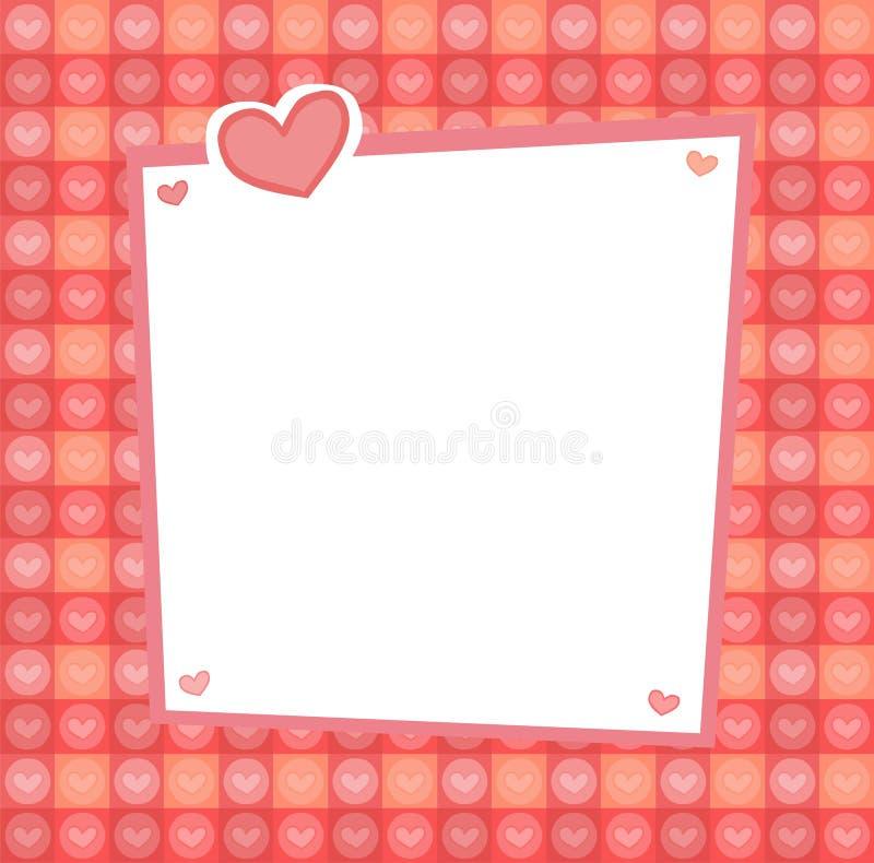 Geplaatste harten stock illustratie