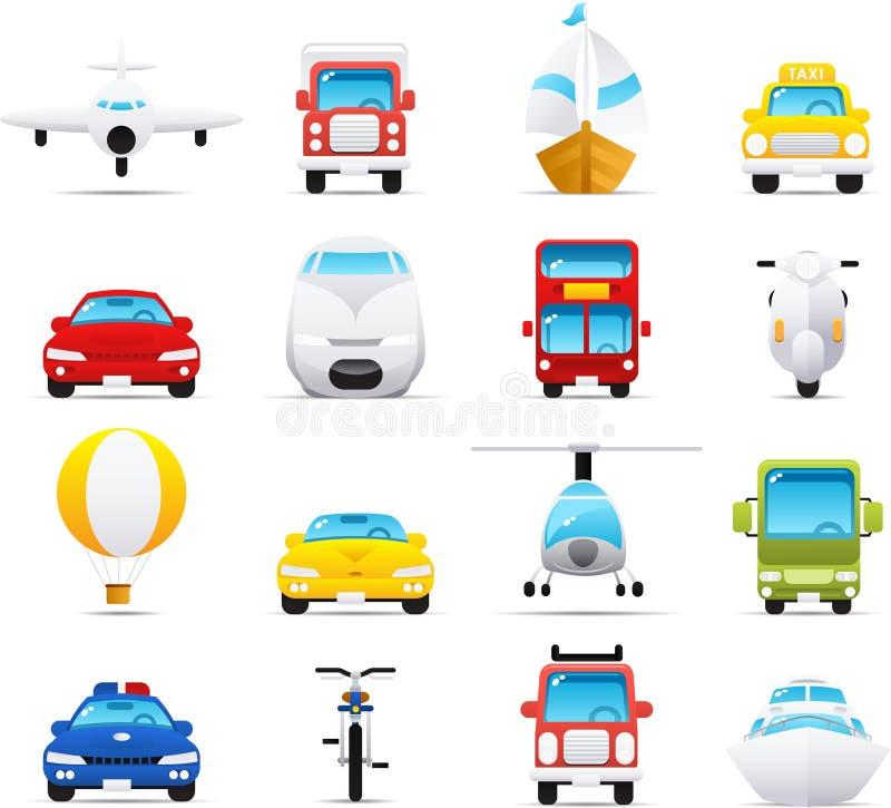 Geplaatste het pictogram van Nouve: Vervoer stock illustratie
