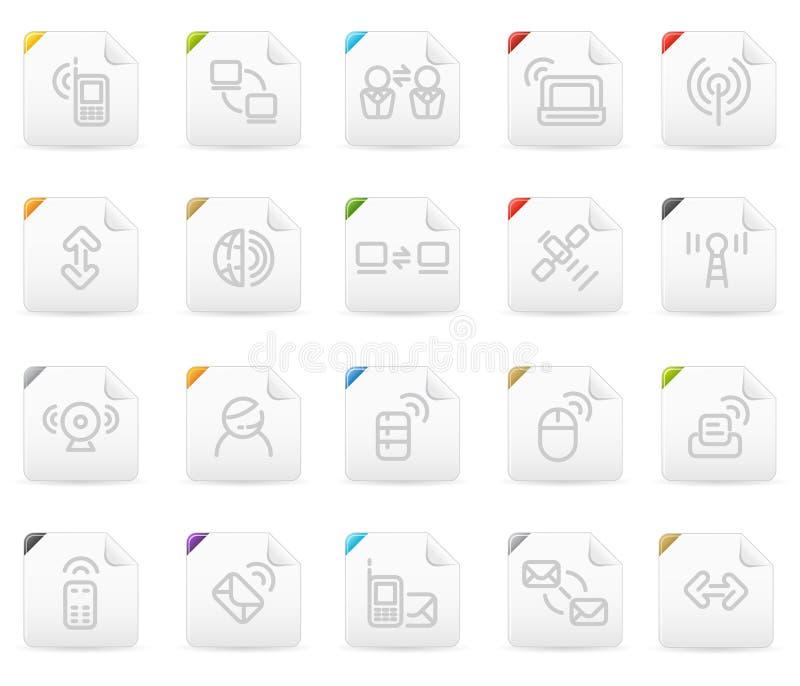 Geplaatste het pictogram van Squaro: Draadloze Technologie royalty-vrije illustratie