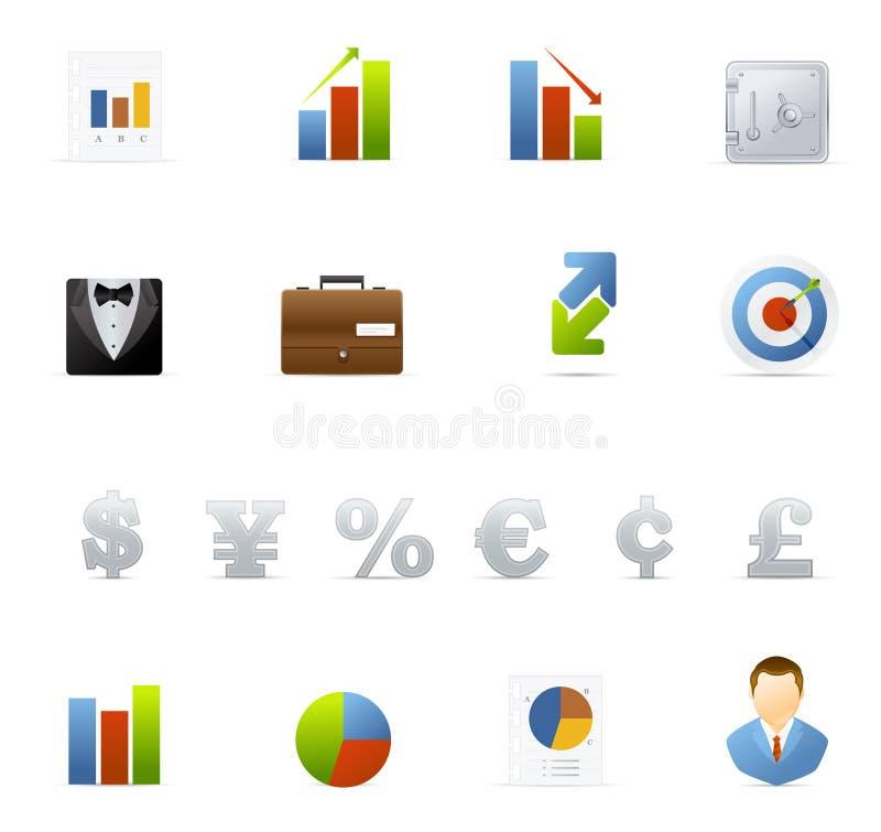 Geplaatste het pictogram van Vecto - Zaken en Financiën vector illustratie