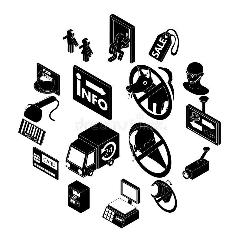 Download Geplaatste Het Voedselpictogrammen Van De Winkelnavigatie, Eenvoudige Stijl Vector Illustratie - Illustratie bestaande uit koffie, voedsel: 114225455